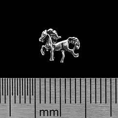 Серьга-гвоздик Лошадь (серебро, 925 проба)