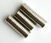 Сверхмощные неодимовые магниты 10 х 2 мм (5 шт.)