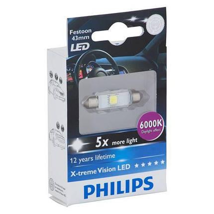 Philips C5W Festoon 12946 (43мм) 6000K, фото 2