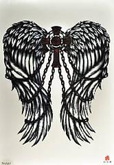 Временная тату Готические крылья (TH-541, 21x15 см)
