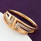 Кольцо женское, медицинское золото Xuping