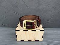 Мужской ремень из кожи, классический ремень, коричневый ремень, ремень для джинсов_ коричневый