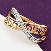 Кольцо женское, медицинское золото Xuping. Размер 20