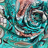 Палантин из вискозы 10808-11, павлопосадский палантин из вискозы, размер 65х200, фото 5