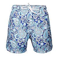 """Пляжные шорты """"Голубой пейсли"""""""