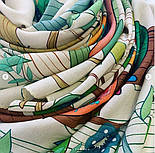 Палантин из вискозы 10812-2, павлопосадский палантин из вискозы, размер 65х200, фото 6