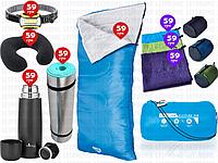 8пр. Спальный мешок-одеяло (спальник) 68053 Evade 200 Pavillo (США) by Bestway в наборе(каремат,термос и д.р.)