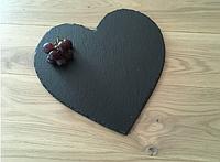 Поднос (сланец) из натурального камня СЕРДЦЕ 12*10см 120/100 Сердце, фото 1