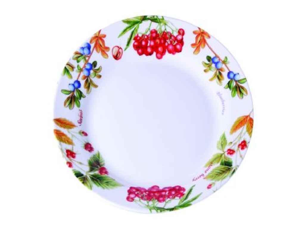 """Тарелка мелкая 23 см Лесные ягоды Арт.K24-198-048 """"KERAMIA"""""""