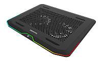 """Подставка для ноутбука до 17.3"""" DeepCool N80 RGB, 2х14 см вентилятор, алюминиевая сетка"""
