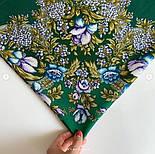 Белой ночи кружевные сны 1844-9, павлопосадский платок шерстяной  с шелковой бахромой, фото 3