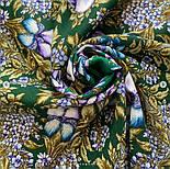 Белой ночи кружевные сны 1844-9, павлопосадский платок шерстяной  с шелковой бахромой, фото 6