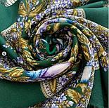 Белой ночи кружевные сны 1844-9, павлопосадский платок шерстяной  с шелковой бахромой, фото 7