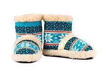Чуни из овечьей шерсти Мериноса с вышивкой, размер 36-41 \ Tvd - 1054