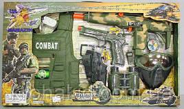 """Детский игровой набор полиции """"Миротворец"""" 33480: бронежилет, маска, пистолет, бинокль, автомат"""