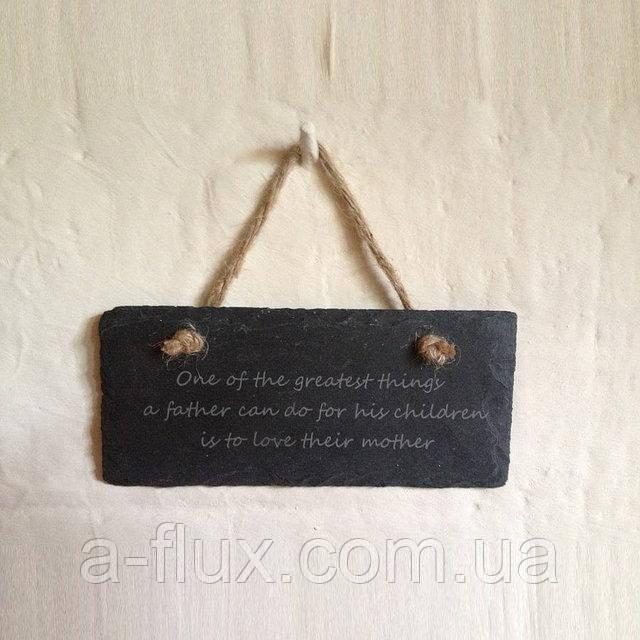 Табличка малая  сланец (натуральный камень)  прямоугольная 20*9,3см 200/93 Табличка