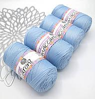 Трикотажный полипропиленовый шнур PP Macrame, цвет Небесно-голубой