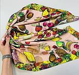 10354 платок хлопковый 10354-3, павлопосадский платок на голову хлопковый (саржа) с подрубкой, фото 9