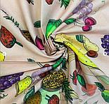 10354 платок хлопковый 10354-3, павлопосадский платок на голову хлопковый (саржа) с подрубкой, фото 10