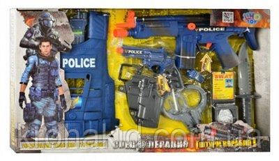 Детский игровой набор полиции 33520: бронежилет, нож, пистолет, наручники, автомат