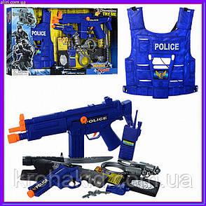 Детский игровой набор полиции 33520: бронежилет, нож, пистолет, наручники, автомат, фото 2