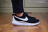 Мужские кроссовки в стиле Nike Air Max Tavas черные на белой, фото 2