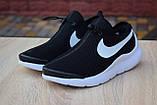Мужские кроссовки в стиле Nike Air Max Tavas черные на белой, фото 6