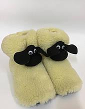 Барашек Шон сапожки из овечьей шерсти, чуни из овчины, размер 36-41 \ Tvd - О45