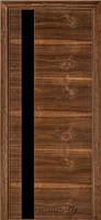 Дверь Terminus Urban 21 орех американский, остекленная (черное)