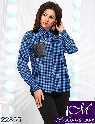 Женская рубашка в клетку (р. 42-44, 44-46) арт. 22855, фото 2