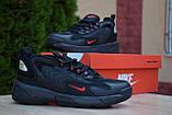 Мужские кроссовки в стиле Nike zoom 2k черные с красным, фото 4