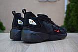 Мужские кроссовки в стиле Nike zoom 2k черные с красным, фото 3