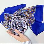 Маркиза 722-13, павлопосадский шарф шелковый крепдешиновый с подрубкой, фото 3