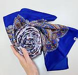 Маркиза 722-13, павлопосадский шарф шелковый крепдешиновый с подрубкой, фото 7