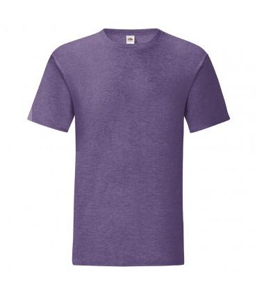 Мужская футболка однотонная фиолетовый меланж 430-HP