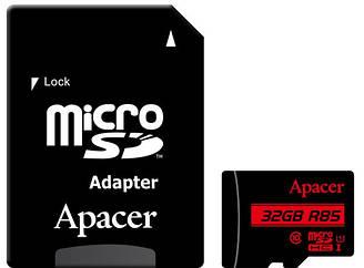 Карта памяти APACER microSDHC 32GB+adapter