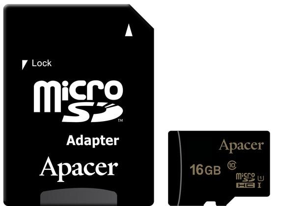 Карта памяти APACER microSDHC 16GB