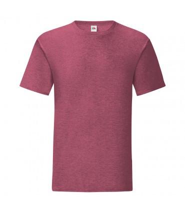 Мужская футболка однотонная бордовый меланж 430-Н1