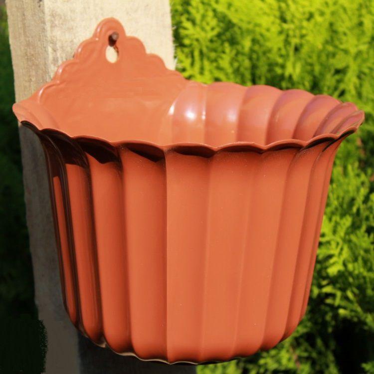 Пластмассовый горшок для цветов Настенный 14