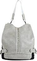 Сумка-рюкзак женская Traum 7235-29 искусственная кожа 7л серый черный