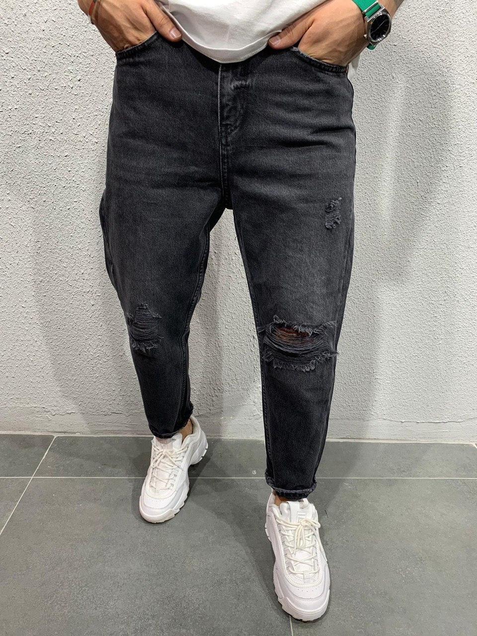 😝 Джинсы - Черные мужские джинсы бойфренды