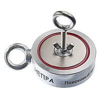 Двухсторонний поисковый магнит НЕПРА 2F400, отрывное усилие 500кг Доставка и ТРОС в подарок