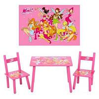 Bambi Детский столик M 1508 со стульчиками Винкс