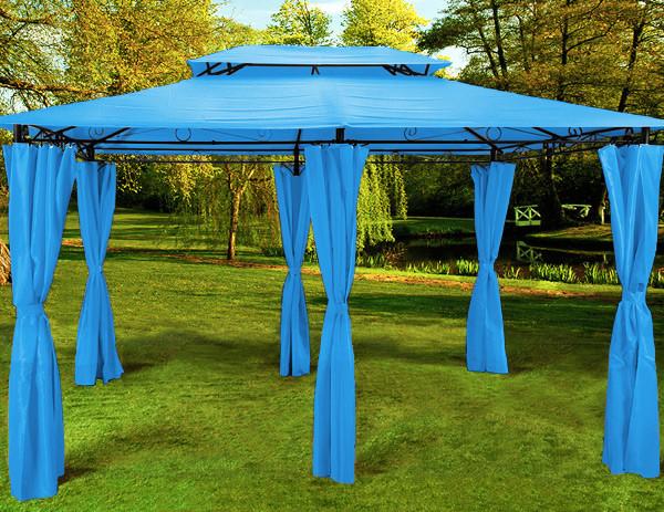 Павильон садовый 3х4м., голубой