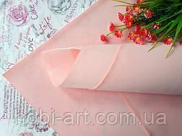 Фоаміран зефірний 1мм 50х50 см №01 персиково-рожевий (Китай) див.описання