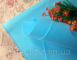 Фоаміран зефірний 1мм 50х50 см №04 блакитний (Китай) див.описання