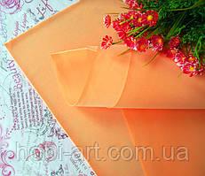 Фоаміран 1мм 50х50 см №09 світло-оранжевий(Китай) див.описання