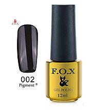 Гель-лак F.O.X Gold Pigment  № 002 12 ml черный