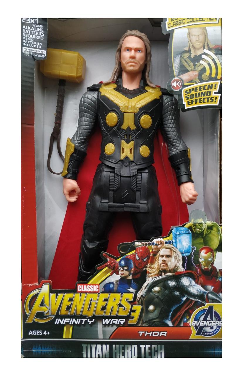 Фигурка герои Марвел (Avengers - Мстители) Тор | Tor 30 см со звуком Marvel scs scs
