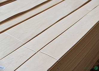 Шпон Вільхи - 0,6 мм довжина від 0,50 - 0,75 м / ширина від 9 см+ (I сорт)